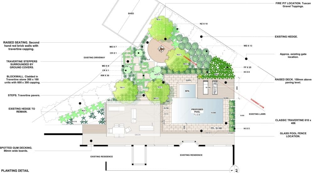 Landscape Design Drawing Bentley