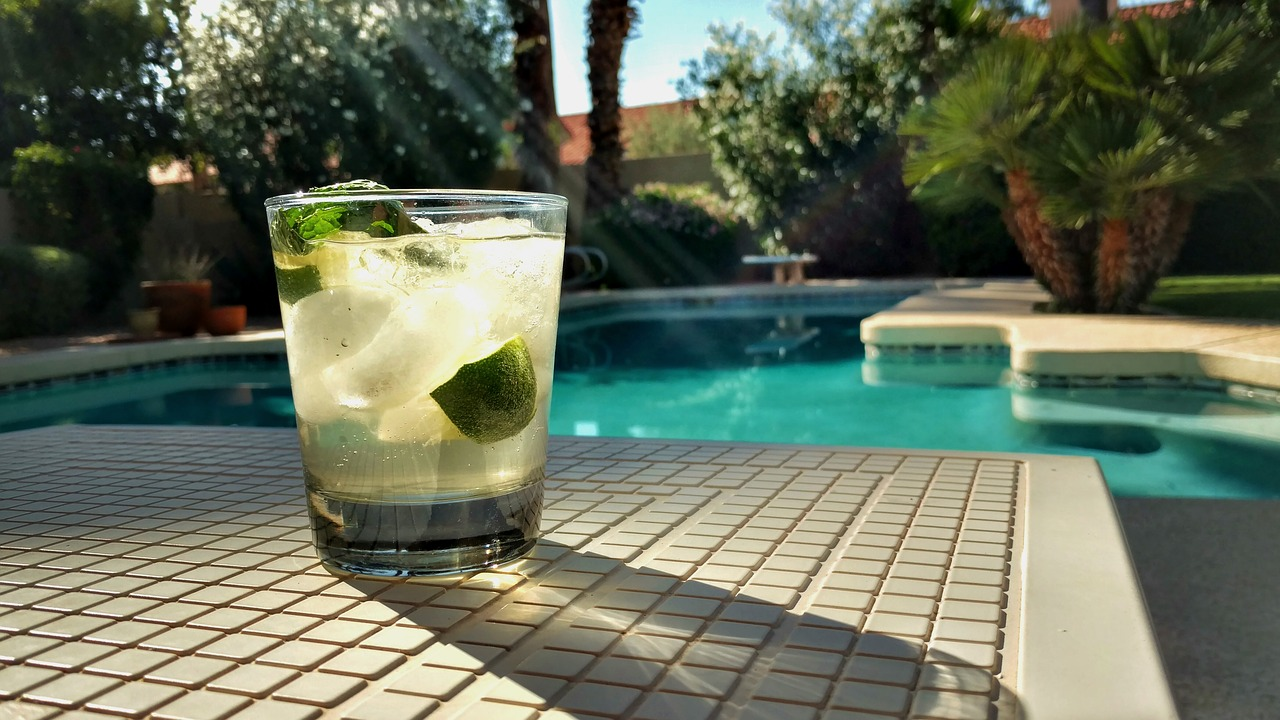 summer, swimming pool, tropical